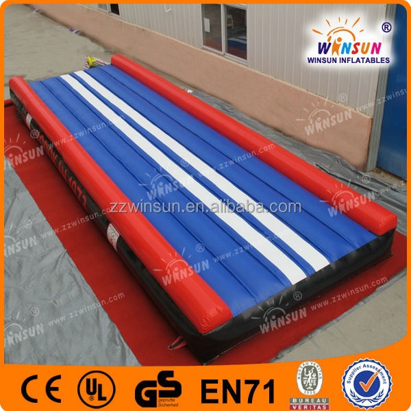 2014 EN14960 CE hot sale Custom made attractive international used inflatable air tumble track for gym