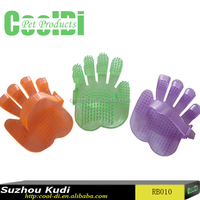 Pet soft bathing massage glove with different colors RB010