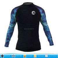 Unisex Long Sleeve Rash Guard for water sports Water Sports,Surfing,Diving,Snorkeling,Kayaking,Swimming