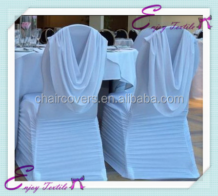YHC#115 hot sale wedding decoration ruffled ruched swag elastic banquet chair cover
