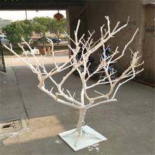 Customzied tree without leaves decoration white trunk dry tree artificial coral branch