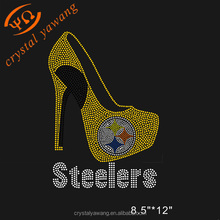 hot fix rhinestone steelers heel shoes stone transfer design wholesale for garment