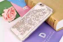 bling glitter liquid clear floating quicksand tpu mobile phone case for iphone 6