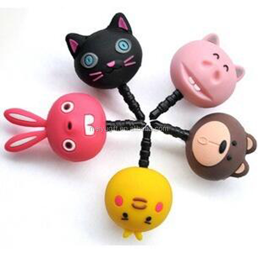 Animated cartoon character phone plastic dust plug