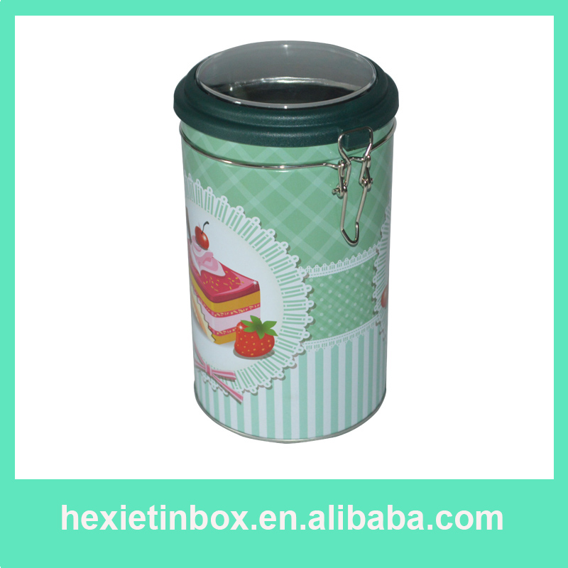 2016 Best Popular Metal Cylindrical Elegant Tin Cans For Coffee Or Tea