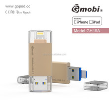 Gmobi USB flash disk with Extended Lightning Connector for iPhones, iPads