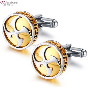unique design men stainless steel cufflinks gold silver color can be customized