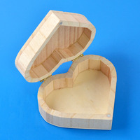 Art Decoration Jewelry Love Heart Wooden Box