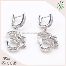 Smart Arabic Numerals 3 Meaning Successfully 925 Sterling Silver Earring