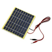 BUHESHUI 5W 18V Polycrystalline Solar Panel+1M Cable Crocodile Clip For 12V Car/Boat/Motor Battery Portable Solar Charger