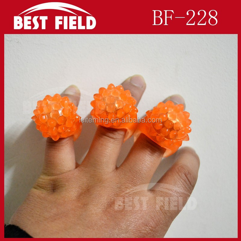 Blinking light rubber led finger ring
