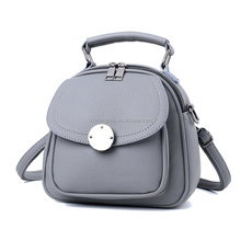 PU leather mini bucket type ladies <strong>backpack</strong>