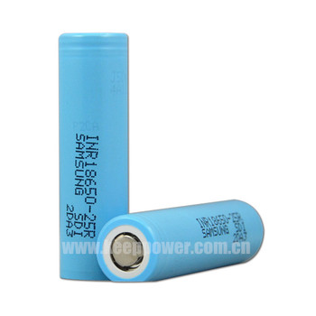 20A Discharge 18650 2500mah INR18650 25R e-cigratte high power battery