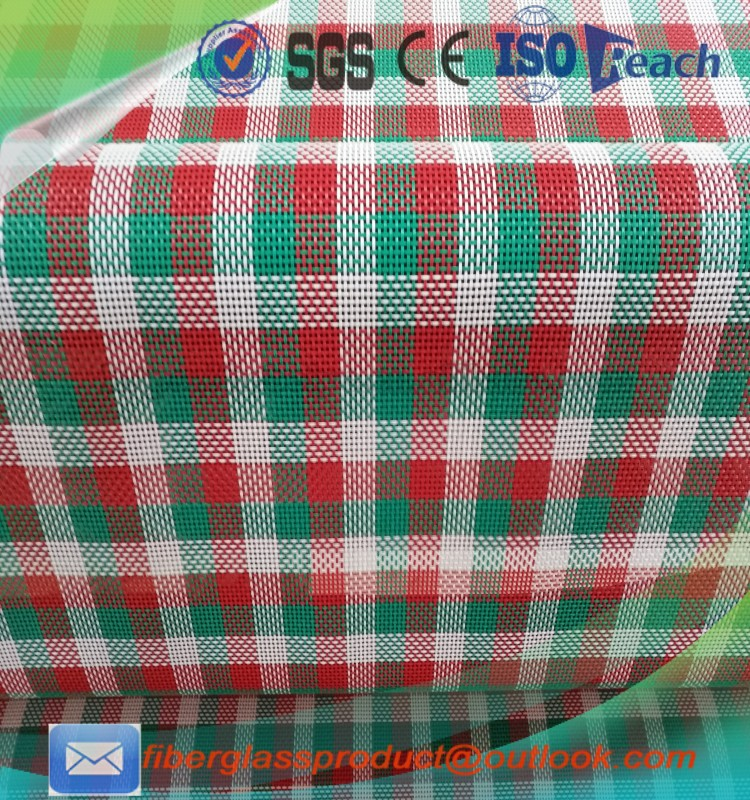 PVC backing polyester fabric