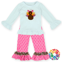 2015 winter holiday thanksgiving day outfit turkey wholesale children clothes