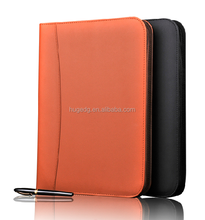 Customized assorted size business leather portfolio/folder in factory price