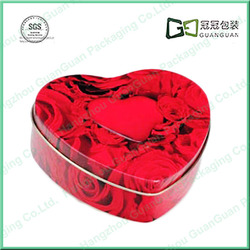 Food grade small cute rectangular metal food tin box containers
