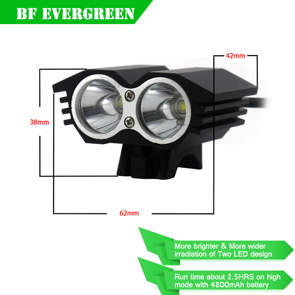3000 Lumens 2x Cree Xm-L T6 <strong>U2</strong> <strong>Leds</strong> 4 Mode Bike <strong>Bicycle</strong> <strong>Light</strong> Headlights