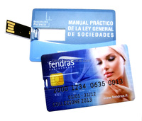2016 popular promotional super thin credit card usb flash drive