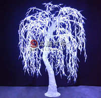 Led weeping willow tree light