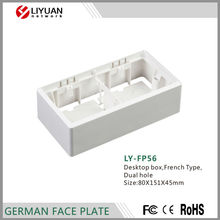 LY-FP56 French Type 80X151X45mm desktop outlet box