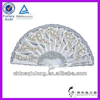 2013 Hot Foldable Lace Colorful Wood Fans Crafts Gifts