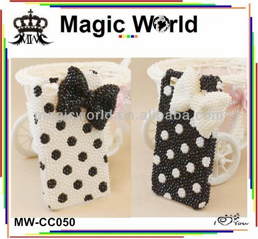 FOR IPHONE 5S JEWELRY ELEGANT BOW MOBILE PHONE CASE