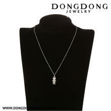 New products simple design with good offer short chain choker white stainless steel necklace