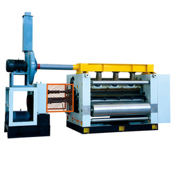 Factory price fingerless Vacuum adsorption single facer corrugated machine / single facer for sale
