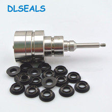 PEEK material spring energized seals for single-liquid two-liquid vacuum V-type dispenser spring seals