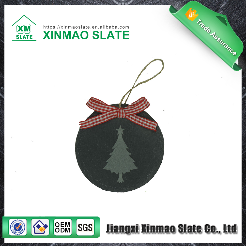 Christmas decoration supplies natural slate craft hanging ornament