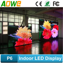 Hot sale Pixel pitch 6mm commercial indoor led display p6 indoor led screen