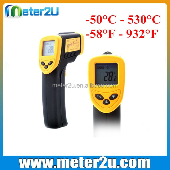Industrial controll emissivity setting infrared thermometer
