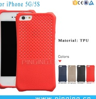 Drop Resistance Striae Heat Dissipation Mesh Soft Rubber Phone Case For iPhone 5