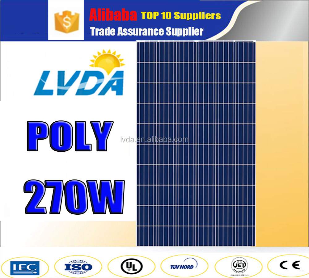 LVDA factory directly sale High efficiency polycrystalline solar panels 270w 260w 250 watt for dubai/ Philippine market