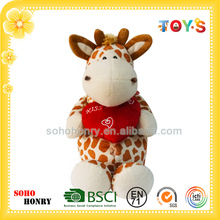 OEM or ODM Cartoon Character Soft Toy Plush Giraffe Toy