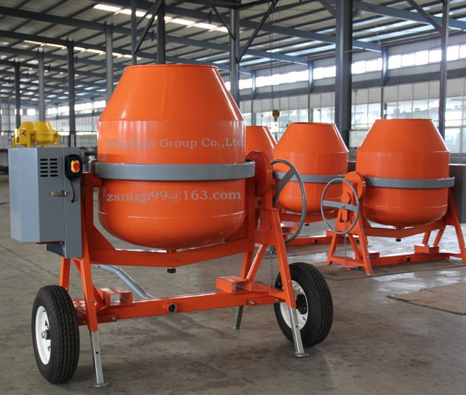 CMH400(CMH50-CMH800) Zhishan Portable Electric Gasoline Diesel Cement Mixer 400L