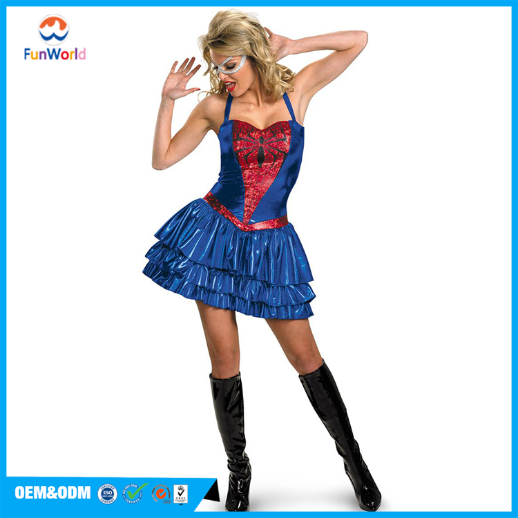Party city fashion style adult spiderman costume for women