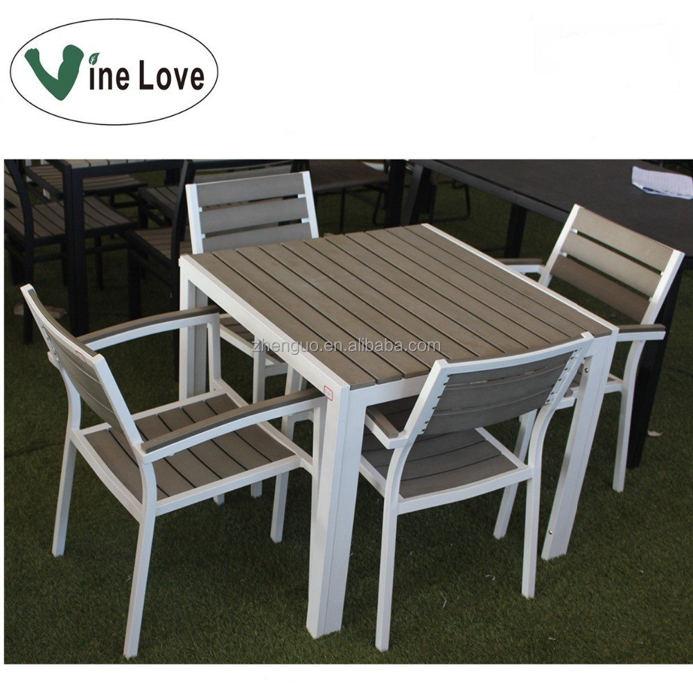 Stackable competitive polywood garden dining outdoor furniture set