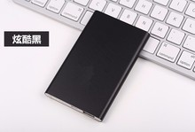 Ultra Thin Mobile Power Bank 4000 mah Polymer High Capacity Backup Battery Charger with Metal Housing