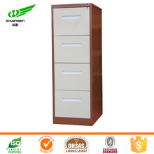 brown white color wide handle 4 drawer file sheet metal cabinet