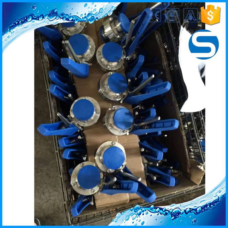 304 316 sanitary pipe butterfly valve for drinking water