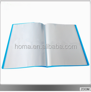factory wholesale pockets a4 clear book display book
