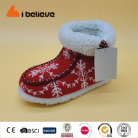 2016 hot sales snowflake shoes women knit winter boots