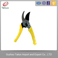 PTFE Coated 65Mn Garden Yellow best topiary shears With PP Grip Handle
