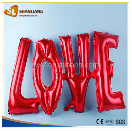 LOVE shaped Foil Balloon, Wedding Decorate Party Supplies