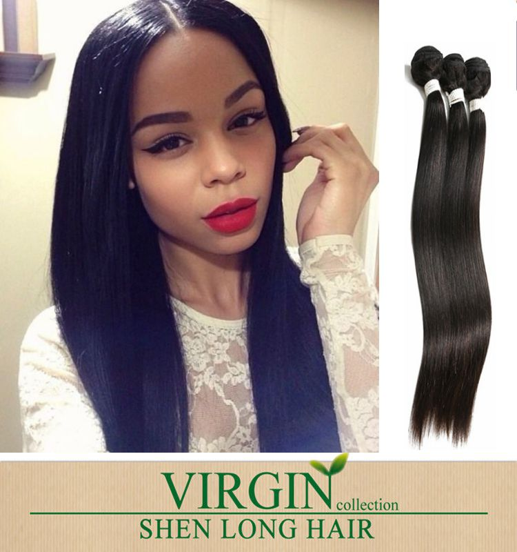 High quality Brazilian virgin hair dyeable 8-30 inch hair bundles with lace closure silky straight weaves