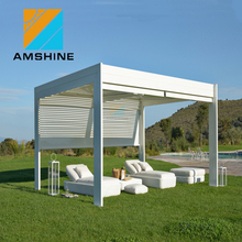 High Quality Factory Price Outdoor Gazebo with Metal Roof Louver Waterproof