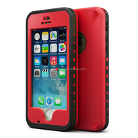 Waterproof Case for Iphone 5 5S Shockproof Fingerprint Scanner Touch ID Plastic Cover Red
