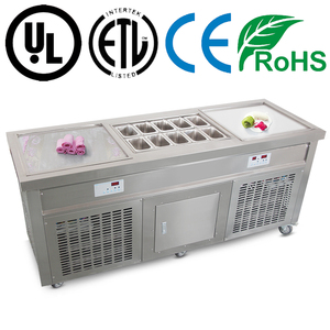 Double square cold plate ice cream machine